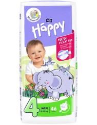 Bella Happy Pieluszki Jednorazowe dla Dzieci Maxi 8-18 kg (rozmiar 4) 46 szt