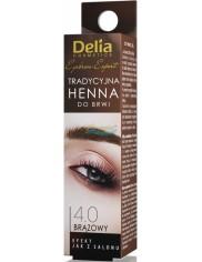 Delia Henna do Brwi Tradycyjna 4.0 Brązowy 1 szt