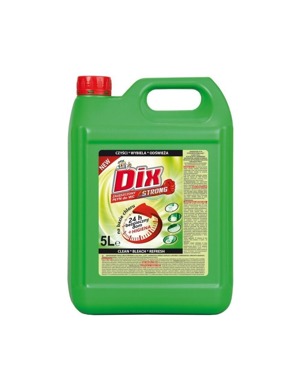 Dix Płyn Zagęszczony do WC Czyszcząco-Wybielający Strong 5 L