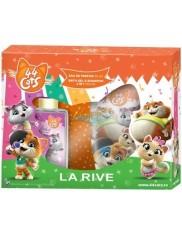 La Rive 44 Koty Zestaw dla Dziewczynki – woda perfumowana 50 ml + żel do kąpieli 2-w-1 250 ml