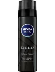 Nivea Men Żel do Golenia dla Mężczyzn z Aktywnym Węglem Deep 200 ml
