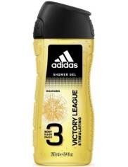 Adidas Żel pod Prysznic do Mycia Ciała, Włosów i Twarzy 3-w-1 dla Mężczyzn z Guaraną Victory League 250 ml