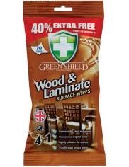 Green Shield Chusteczki do Czyszczenia Drewna Wood & Laminate 70 szt (UK)