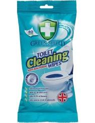 Green Shield Chusteczki do Czyszczenia Toalety Antybakteryjne 40 sztuk (UK)