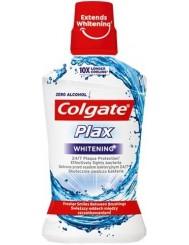 Colgate Płyn do Płukania Jamy Ustnej bez Alkoholu Antybakteryjny Plax Whitening 500 ml