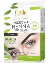 Delia Henna do Brwi Pudrowa 1.0 Czarny 1 szt