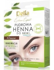 Delia Henna do Brwi Pudrowa 4.0 Brązowy 1 szt