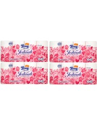 Foxy Papier Toaletowy o Zapachu Talku dla Dzeci Jedwab 3-warstwowy - Zestaw ( 4 x 1 )