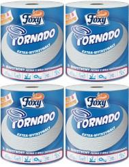 Foxy Ręcznik Papierowy Tornado Extra-wytrzymały 3-warstwowy Celuloza - Zestaw ( 4 x 1 )