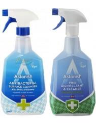 Astonish Płyn do Dezynfekcji i Antybakteryjny Zestaw (2x 750 ml) (UK)