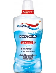 Aquafresh Płyn do Płukania Jamy Ustnej bez Alkoholu Fresh & Minty 500 ml