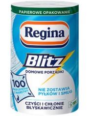Regina Ręcznik Papierowy Niepylący Blitz 3-warstwowy Celuloza (33x25,7 cm) (1 rolka  x 100 listków)