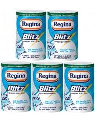 Regina Ręcznik Papierowy Niepylący Blitz 3-warstwowy Celuloza (33x25,7 cm) Zestaw (5 rolek x 100 listków)