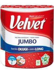 Velvet Długi Ręcznik Papierowy Jumbo (100% celuloza) 1 rolka