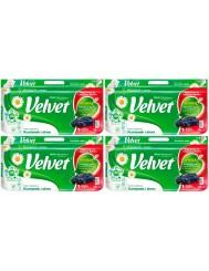 Velvet Papier Toaletowy 3-Warstwowy Rumianek i Aloes Zestaw (4 x 8 rolek)