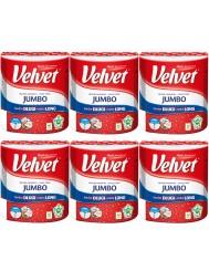 Velvet Długi Ręcznik Papierowy Jumbo (100% celuloza) Zestaw 6 rolek