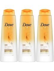 Dove Szampon z Odżywką do Włosów Normalnych Nourishing Oil Light  Zestaw ( 3 szt x 400 ml )