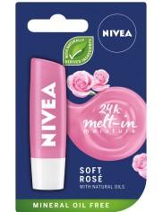 Nivea Pomadka Pielęgnująca do Ust o Zapachu Róży 5.5 ml