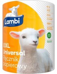 Lambi Ręcznik Papierowy 2-Warstwowy Celuloza Uniwersalny XXL (1 rolka x 348 listków)