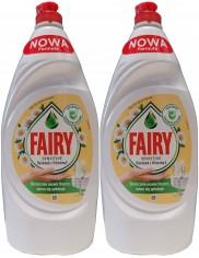 Fairy Płyn do Mycia Naczyń Sensitive Rumianek z Witaminą E (2 x 900 ml)