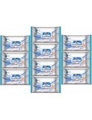 Dex Baby Chusteczki Nawilżane do Pielęgnacji i Oczyszczania Skóry Dziecka Soft Care Zestaw (10x 72 szt)
