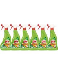 Dix Professional Płyn do Kuchenek, Zadymionych Szyb Piekarników, Kominków, Szyb Kominkowych i Grilli Zestaw (6x 500 ml)
