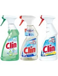 Clin Windows & Glass Spray Citrus – środek do czyszczenia okien z alkoholemZestaw ( 3 szt x 500 ml )