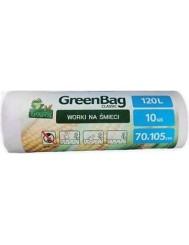 GreenBag Worki na Śmieci Biodegradowalne (120 litrów) 10szt