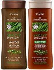 Joanna Szampon + Odżywka do Włosów Cienkich, Delikatnych, ze Skłonnością do Wypadania Skrzyp i Rozmaryn Zestaw (300 ml + 300 g)