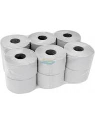 Clarina Papier Toaletowy Szary 2-Warstwowy Duży (12 rolek x 0,42 kg)