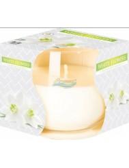 Świeca Zapachowa w Szkle White Flowers Bispol 1 szt