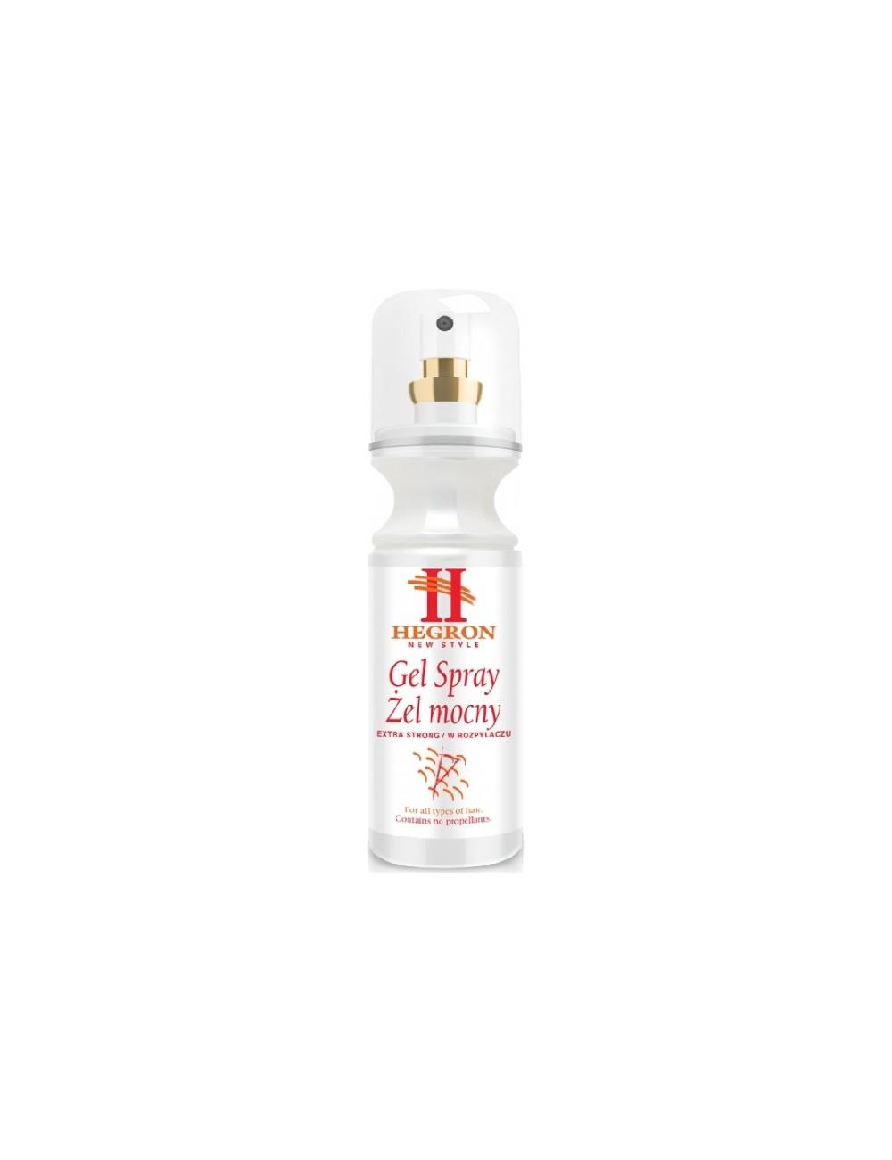 Hegron Gel Spray Extra Strong Holenderski Żel Mocny do Włosów w Sprayu 150 ml