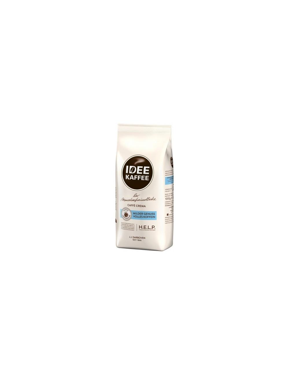 Idee Kaffee Kawa Ziarnista Palona w Torebce Arabika Caffe Crema 1 kg