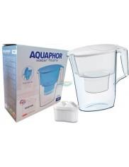 Dzbanek Filtrujący (2,5 L) Biały Aquaphor Time + Wkład Maxfor na 200 L Wody 1 szt
