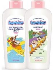 Bambino Żel do Mycia Ciała i Włosów dla Dzieci + Szampon Zestaw (2x 400 ml)