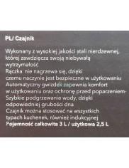 Czajnik (2,5 L) do Wszystkich Typów Kuchenek Indukcyjny Nierdzewny Onyx Florina 1 szt