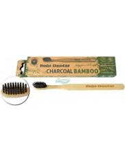 Rebi-Dental Szczoteczka do Zębów Bambusowa z Włosiem z Węglem Aktywnym Miękka 1 szt