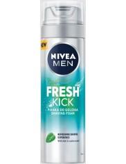 Nivea Pianka do Golenia dla Mężczyzn z Miętą i Wodą Kaktusową Fresh Kick 200 ml