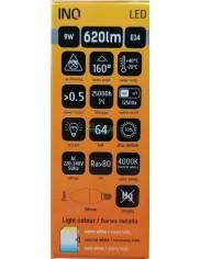 Żarówka LED E14 620lm 9W-49W Biała Neutralna INQ 1 szt
