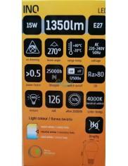 Żarówka LED E27 1350lm 15W-91W Biała Neutralna INQ 1 szt