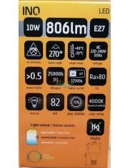 Żarówka LED E27 806lm 10W-60W Biała Neutralna INQ 1 szt