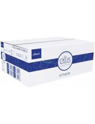 Ellis Ręczniki Papierowe ZZ Składane Typu V Białe Celuloza 2-warstwowe Simple Professional (3000 listków)