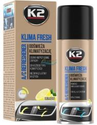 K2 Środek do Odświeżania Klimatyzacji Samochodowej Spray Cytryna Klima Fresh 150 ml