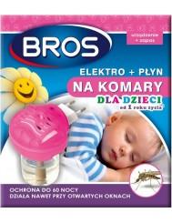 Bros Elektro + Płyn na Komary dla Dzieci od 1 Roku Życia 40ml
