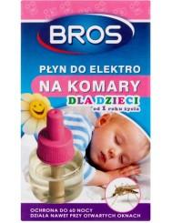 Bros Płyn Owadobójczy do Elektro na Komary dla Dzieci Ochrona do 60 Nocy 40 ml
