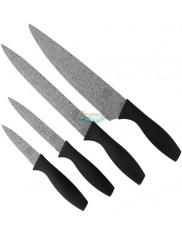 Konighoffer Noże 4 szt – Szefa Kuchni 20 cm + Uniwersalny 20 cm + Uniwersalny 12 cm + do Owoców i Warzyw 9 cm