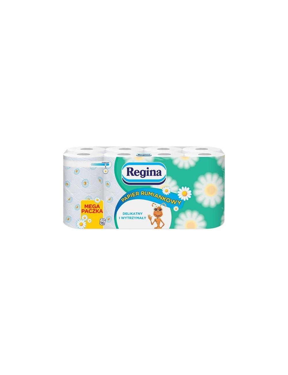 Regina Papier Toaletowy Delikatny i Wytrzymały Rumianek 3-warstwowy Celuloza (16 rolek)