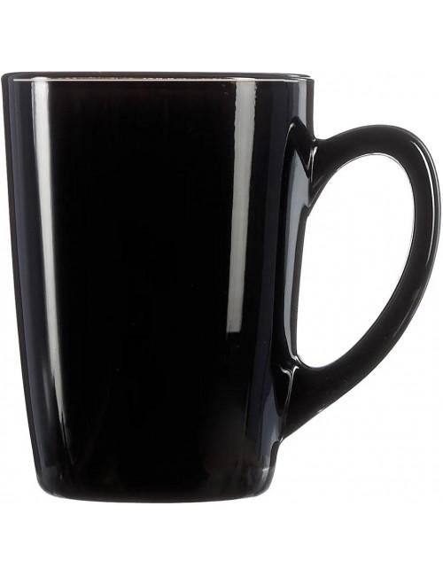 Kubek z Hartowanego Szkła z Uchem Czarny 320 ml New Morning Luminarc 1 szt
