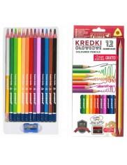 Kredki Ołówkowe Trójkątne Miękki Grafit (13 kredek, 14 kolorów) 1 szt