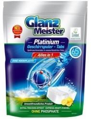 Glanz Meister Tabletki do Zmywarki Cytryna All-in-1 Platinium 65 szt (DE)